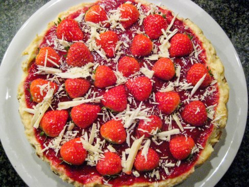 Manhattan Style Strawberry cheesecake