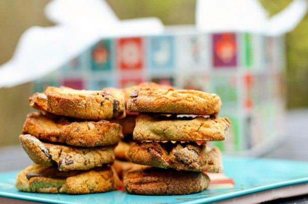 Cookies med nødder og chokolade (uden sukker og gluten)-4