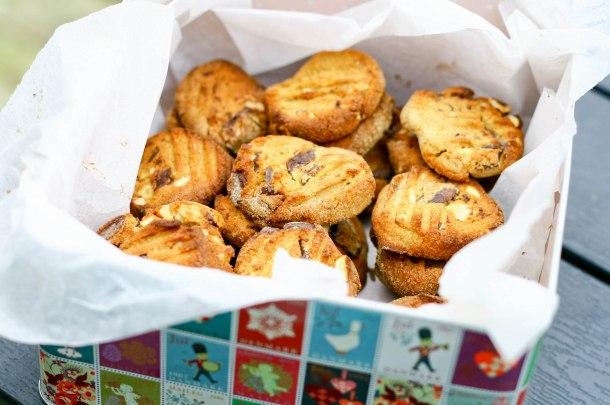Cookies med nødder og chokolade (uden sukker og gluten)-5