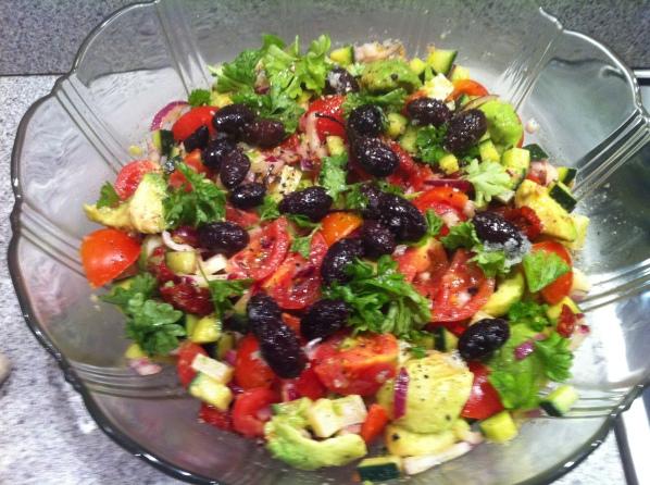 Avocado/ tomat salat