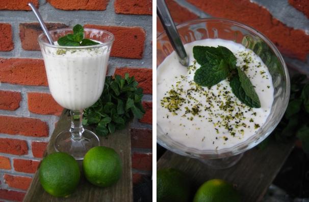 Fromage med lime, mynte og hvid rom