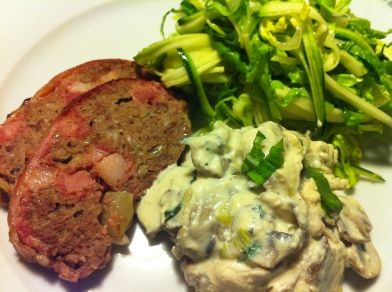 Meatloaf med bacon