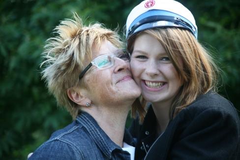 Kathe og Nina Rav