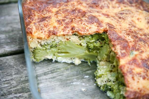 Ravfood Gratin med broccoli og 3 slags oste