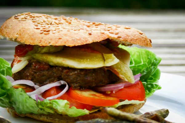 En low carb burger grill menu