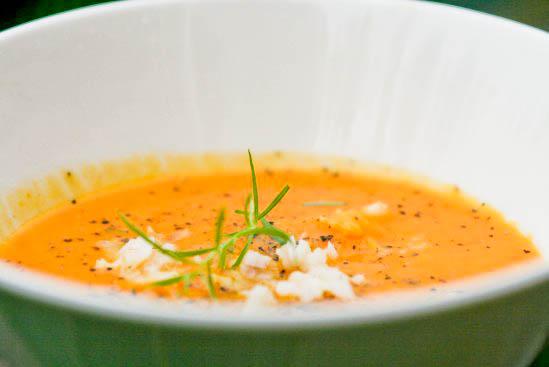 Rød hokkaido suppe