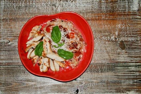 Low Carb Spaghetti Carbonara med kylling