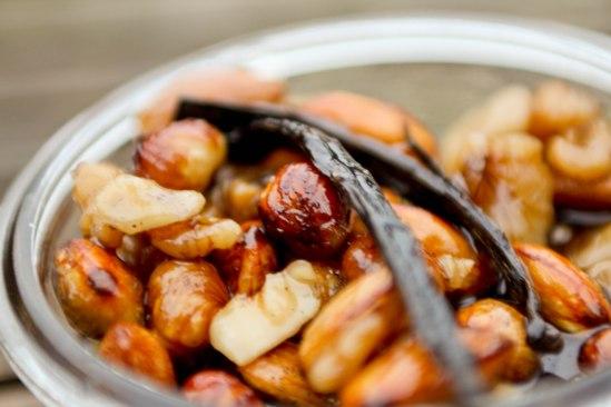 Syltede nødder med vanilie og Cointreau
