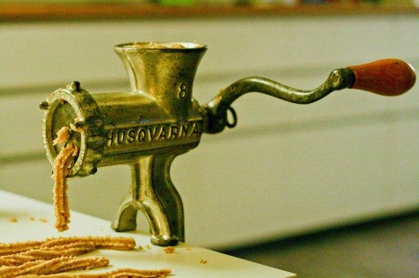 Husqvarna kødkværn til vaniljekranse