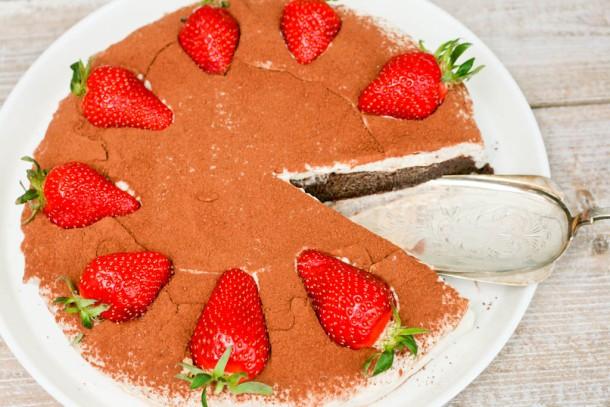 Chokolade tiramisu kage