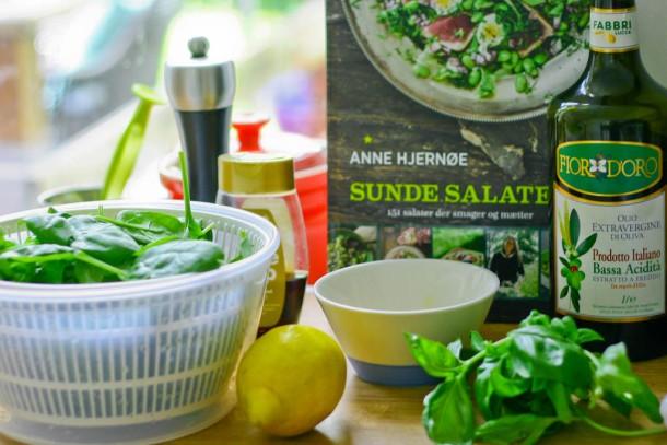 Sunde salater af Anne Hjernøe - Spinatsalat