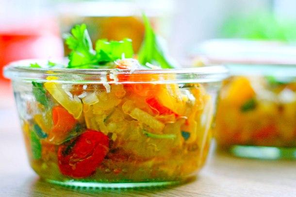 Langtidsbagt squash og tomat med parmesan-3
