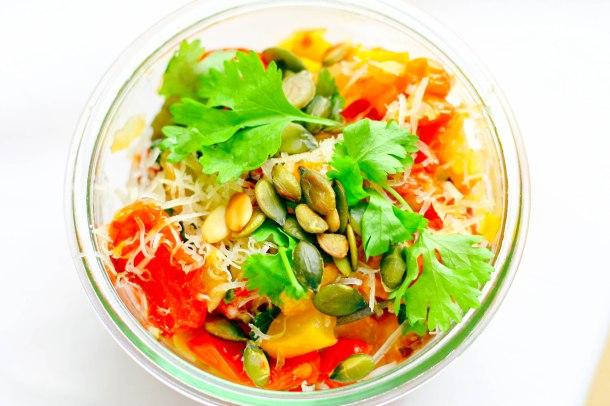 Langtidsbagt squash og tomat med parmesan-4