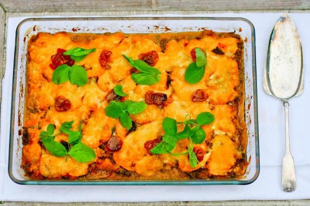 Lasagne med bacon, svampe og søde kartofler-2-2