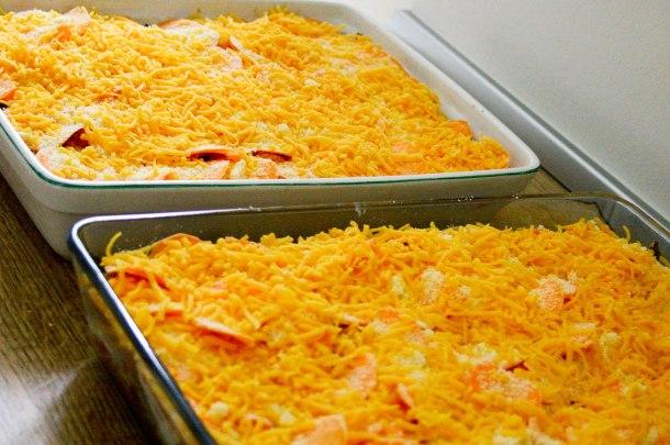 Lasagne med bacon, svampe og søde kartofler-4