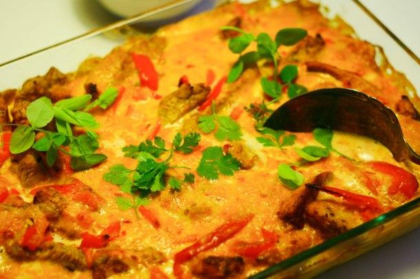 Kylling med karry, mango chutney og sambal oelek-2
