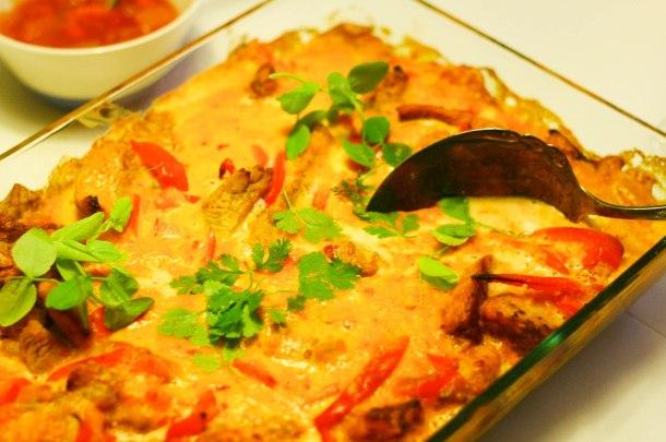 Smørkylling med karry, mango chutney og sambal oelek-3