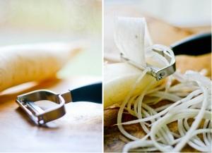 Spaghetti Carbonara med kinaradise og svampe