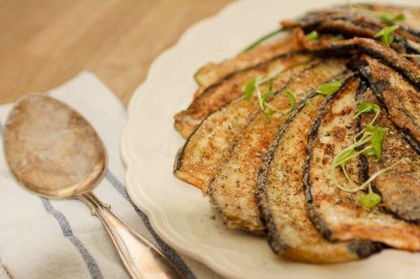 Stegte auberginer med champignons á la creme-2