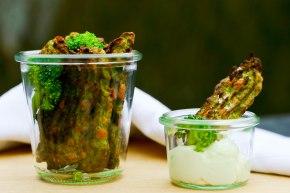 Sprøde broccolifritter medaioli