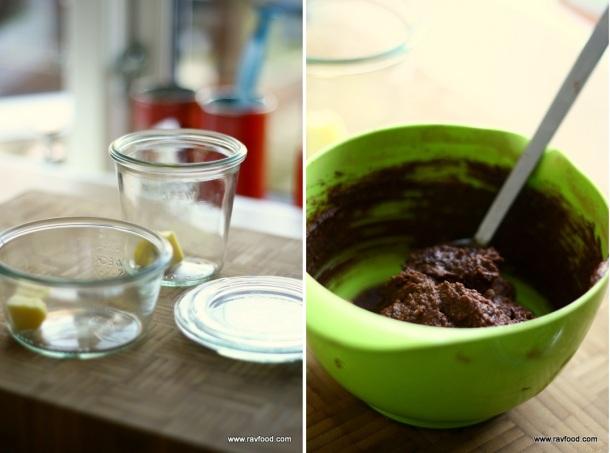 Peanutbutter chokolade kage i kop