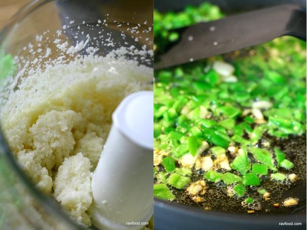 Ovnbagte blomkålsris med hvidløg og chili