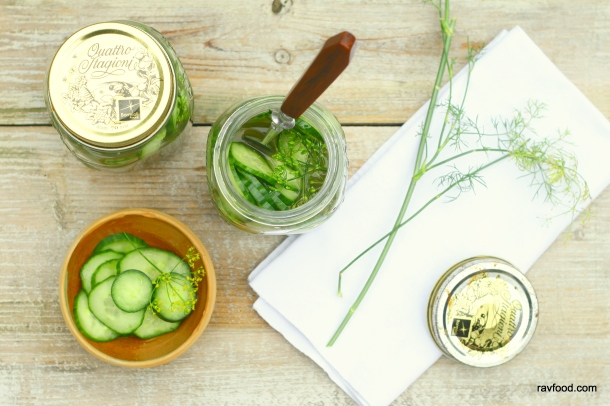 Sukkerfri agurkesalat