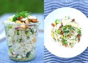 Blomkålsalat med lupinbønner, parmesan ogsaltmandler