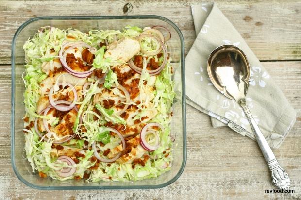 Caesar salat med spidskål