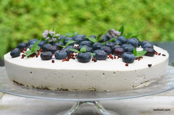 Blåbærfromage blåbær cheesecake
