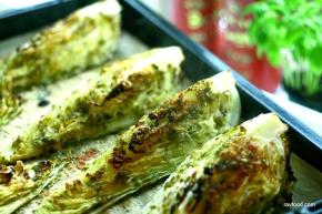Stegt spidskål med gremolata ogparmesan
