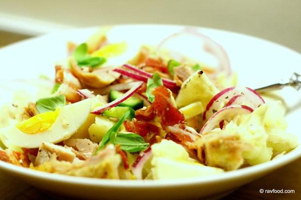 Cæsar salat med blomkål