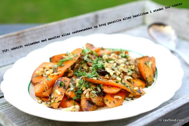 IMG_8371Ristede gulerødder med hvidløg, citron og valnødder