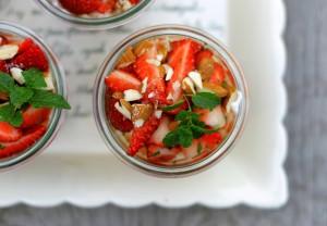 IMG_8572Sommertrifli med jordbær, myntesukker og skyricotta