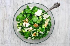 Grøn salat med 6 ingredienser på 6minutter