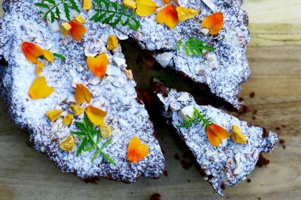 Mandelchokoladekage