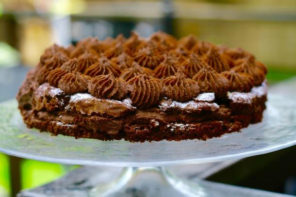 Chokoladekage med chokoladecreme