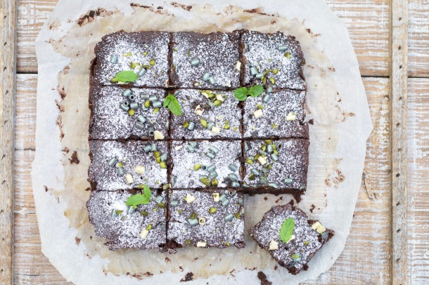Squashchokoladekage med kanel og kardemomme