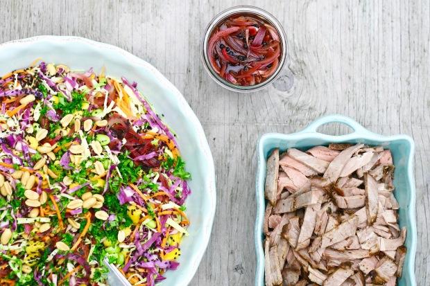 Mandefavoritten - spidskålsalat med et asiatisk twist og masser af flanksteak