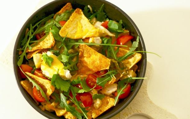 Low carb nachos med kylling og ost - og masser af proteiner